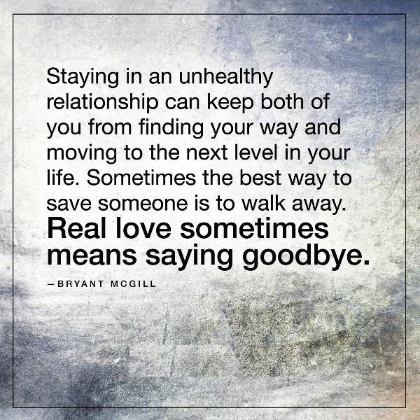 Picture: Staying In An Unhealthy Relationship