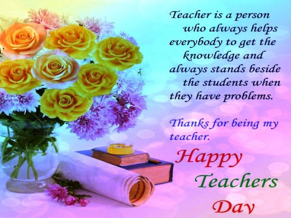 Teacher Is A Person Who Always Helps