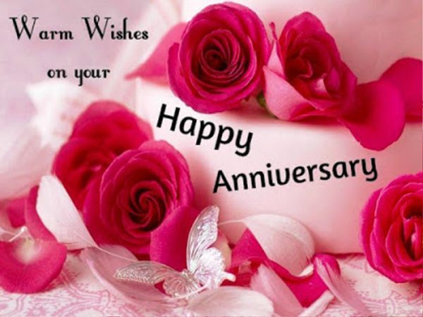 Warm Wishes On Your Happy Anniversary