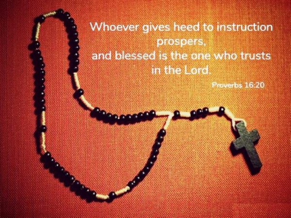 Whoever Gives Heed To Instruction Prospers