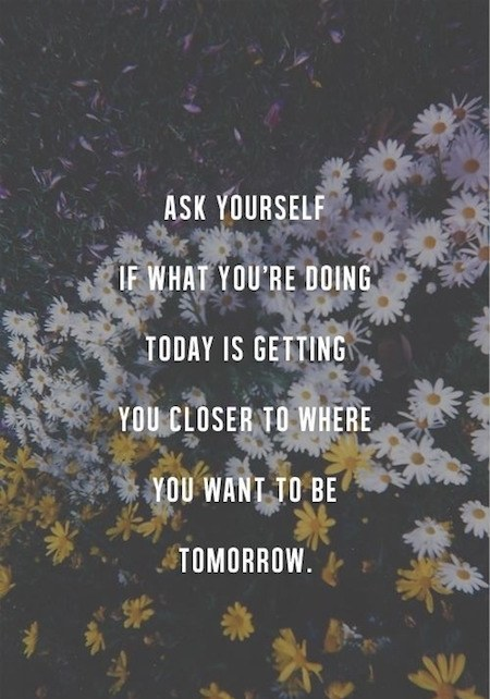 Ask Yourself If What You Are Doing