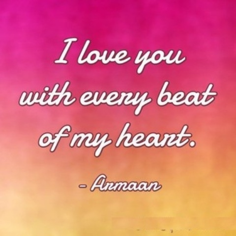 I Love You With Every Beat Of My Heart