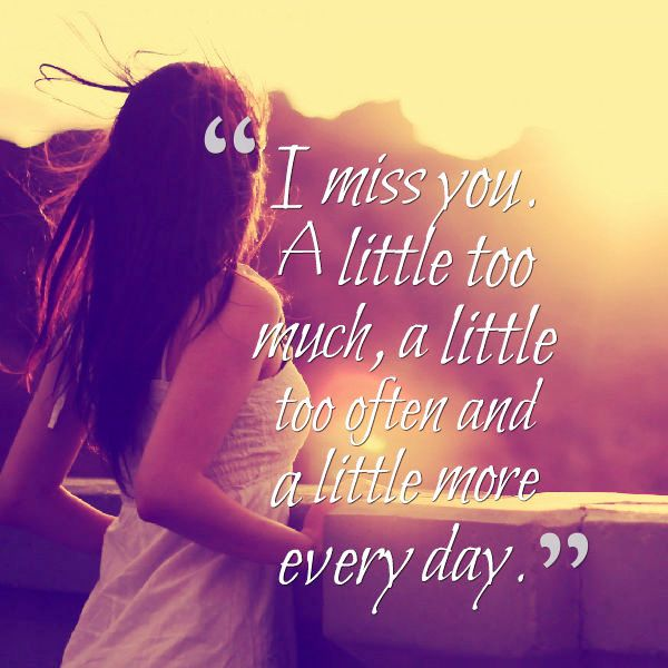 I Miss You A Little Too Much