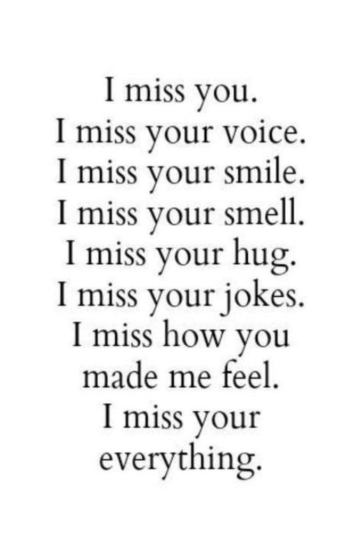 I Miss You And Your Voice