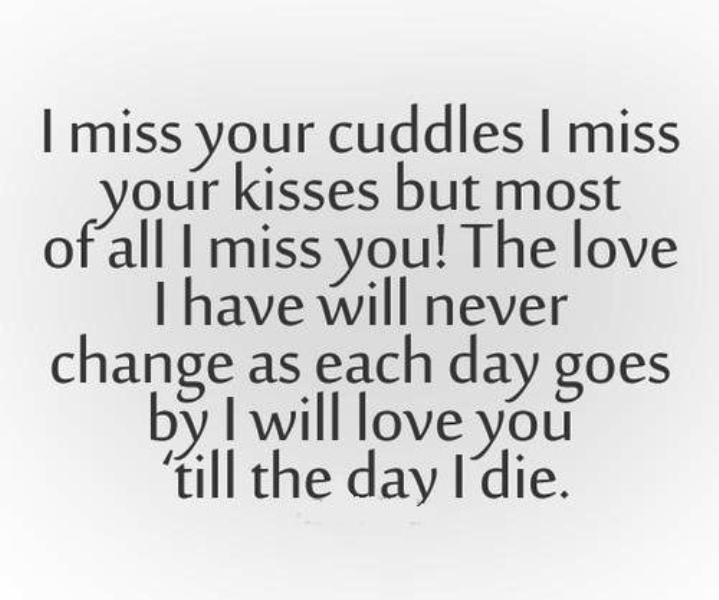 I Miss Your Cuddles I Miss Your Kisses