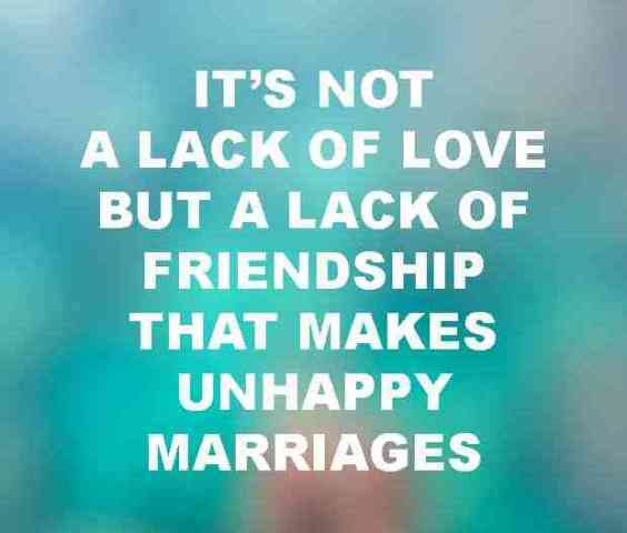 Its Not A Lack Of Love But A Lack Of Friendship