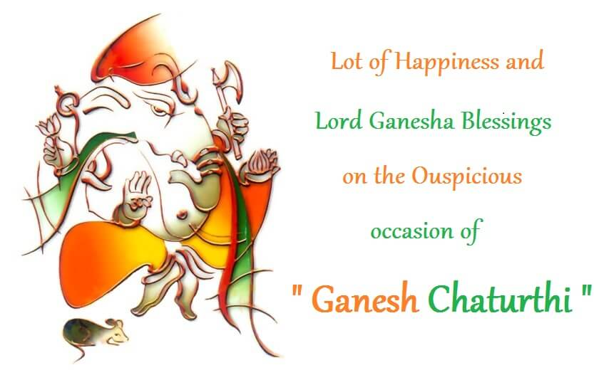 Lot Of Happiness And Lord Ganesha Blessings On The Ouspicious