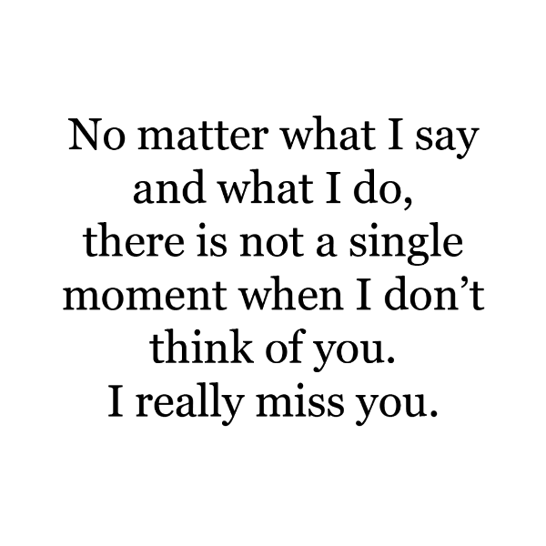 No Matter What I Say