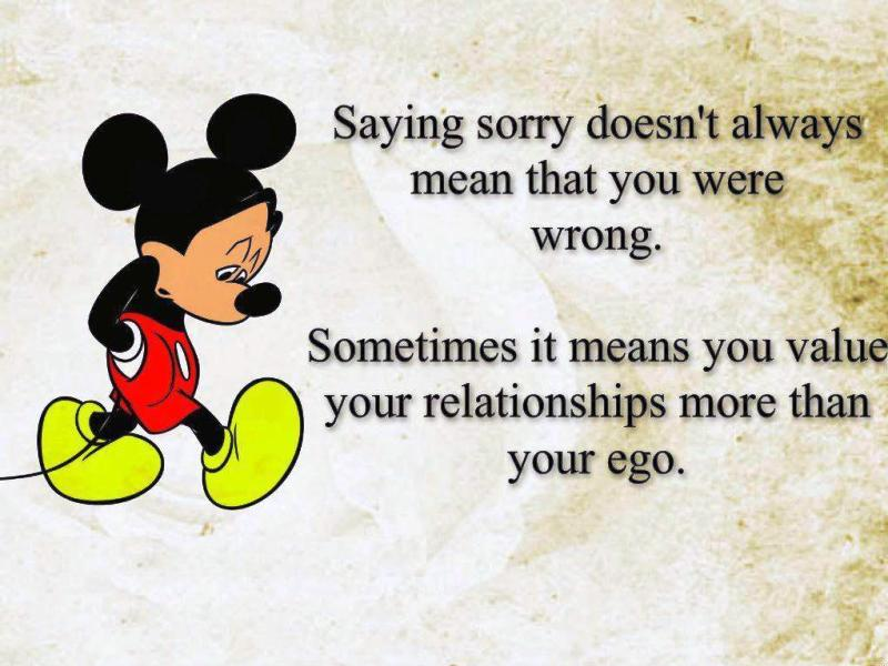 Saying Sorry Doesnt Always