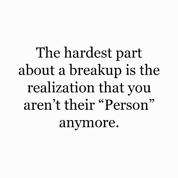 The Hardest Part About A Breakup