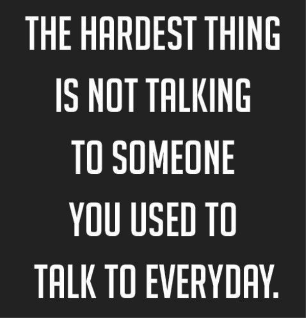 The Hardest Thing Is Not Talking