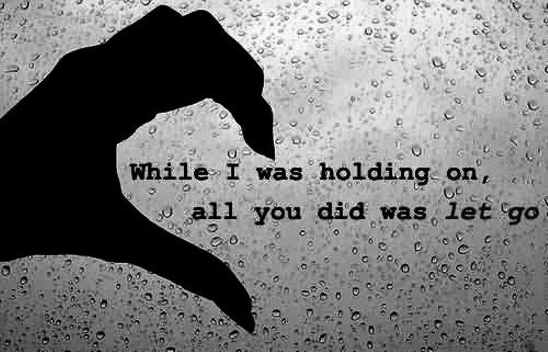 While I Was Holding On
