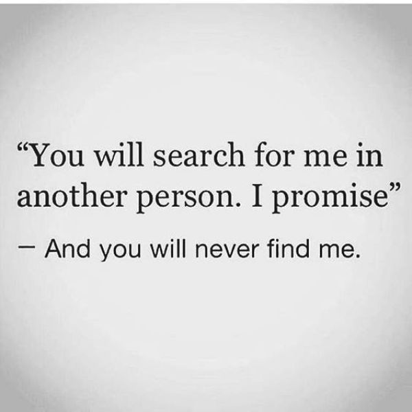 You Will Search For Me