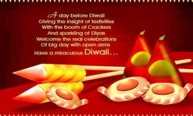 A Day Before Diwali Giving The Insight