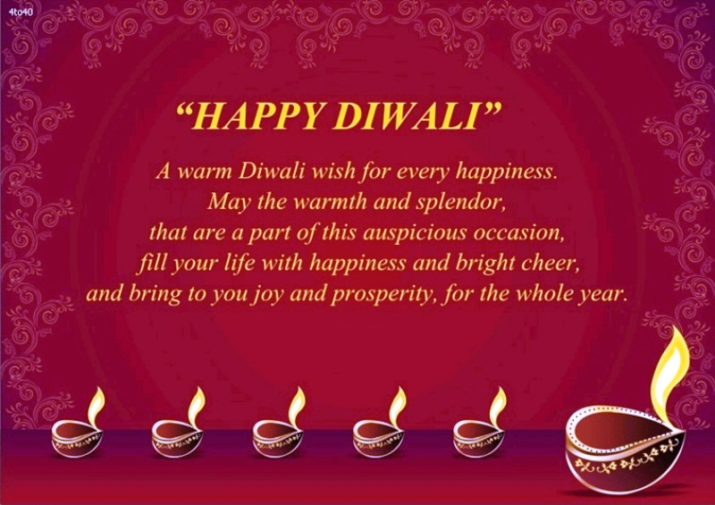 A Warm Diwali Wish For Every Happiness