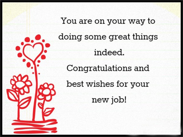 Congratulations And Best Wishes For Your New Job
