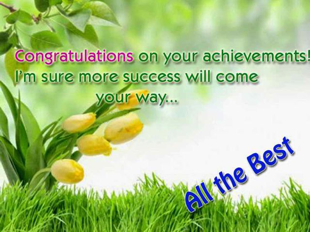 Congratulations On Your Achievements