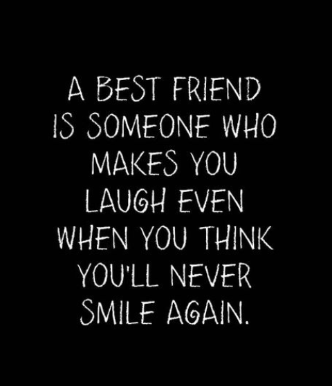 A Best Friend Is Someone Who Makes You Laugh