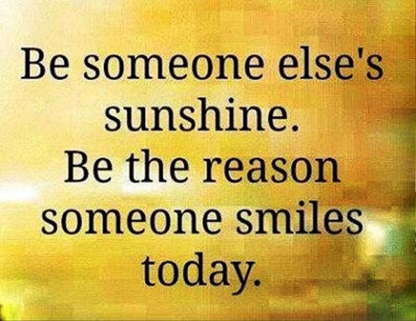 Be Someone Else Sunshine