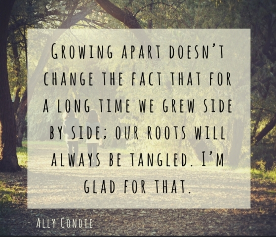 Growing Apart Doesnt Change