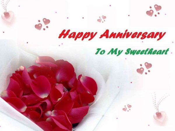 Happy Anniversary To My Sweetheart