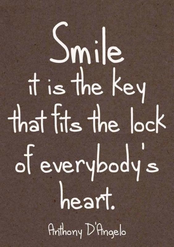 Smile It Is The Key That Fits