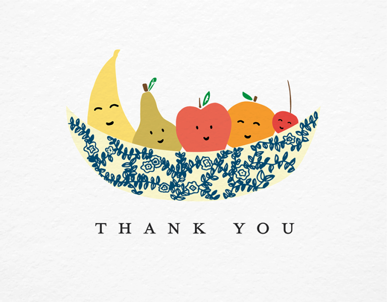 Thank You With Fruits