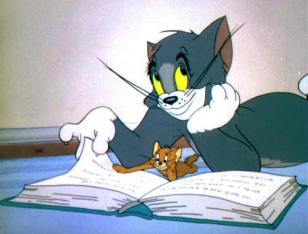 Tom And Jerry Reading Book