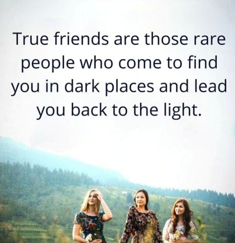True Friends Are Those Rare People