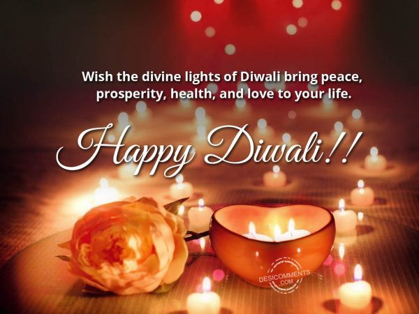 Wish the divine lights of diwali, Happy Diwali