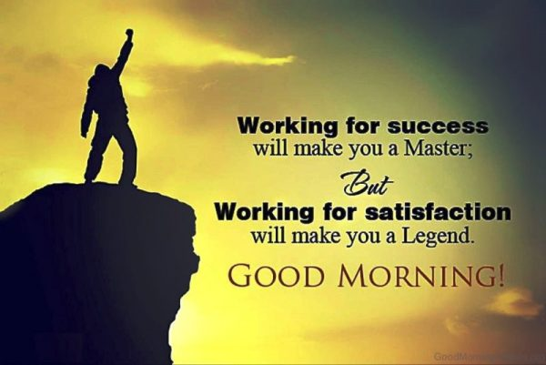 Working For Success Will Make You A Master
