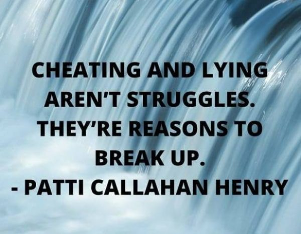 Cheating And Lying Aren't Struggles