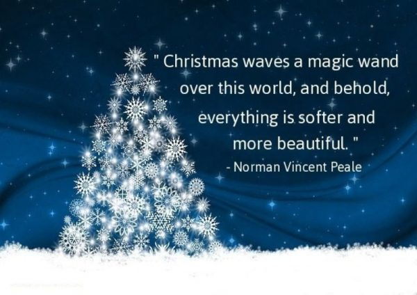 Christmas Waves A Magic Wand Over This World