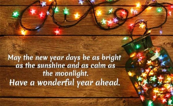 May The New Year Days Be As Bright