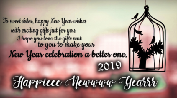 To Sweet Sister Happy New Year Wishes