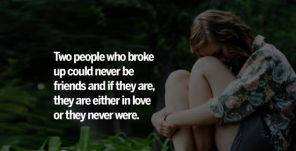 Two People Who Broke Up Could