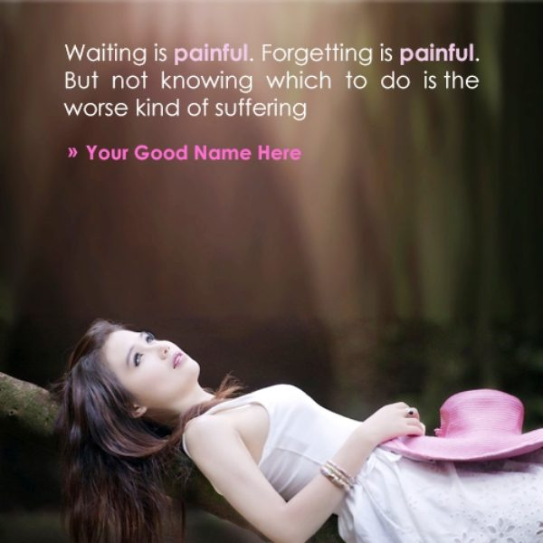 Forgetting Is Painful