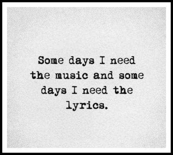 Some Days I Need The Music