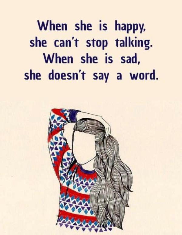 Picture: When She Is Happy She Cant Stop Talking