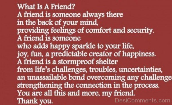 A Friend Is Someone Always There In The Back Of Your Mind-DC022