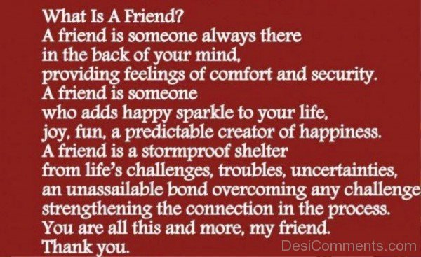 A Friend Is Someone Always There In The Back Of Your Mind-dc099020
