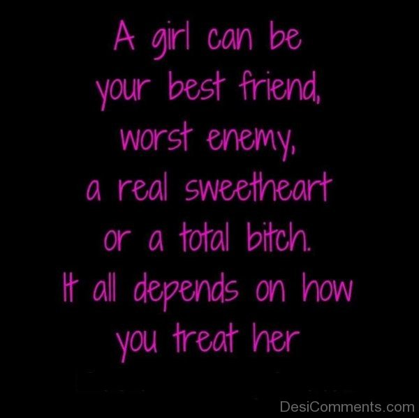 A Girl Can Be Your Best Friend