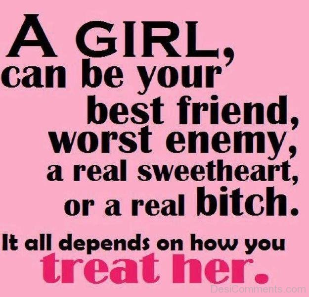 A Girl Can Be Your Best Friend Quote   DesiComments.com