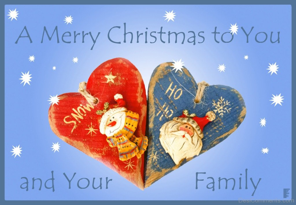 A Merry Christmas To You And Your Family - DesiComments.com