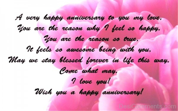 A Very Happy Anniversary To You My Love