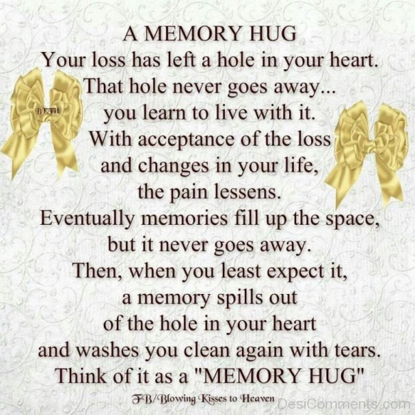 Picture: A memory hug