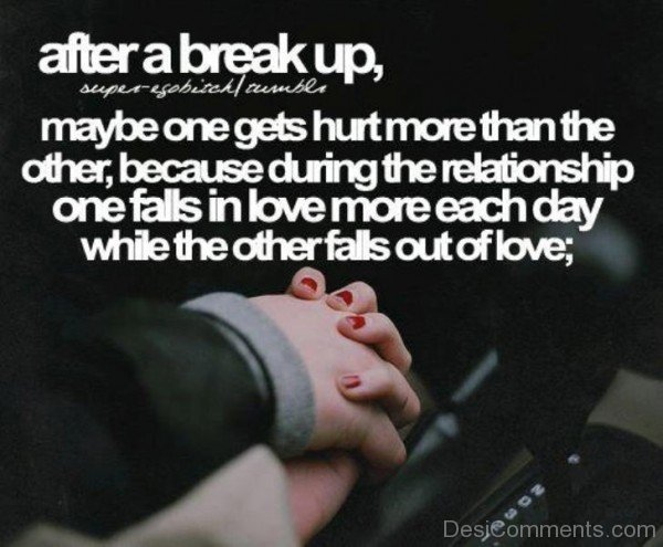 After a break up