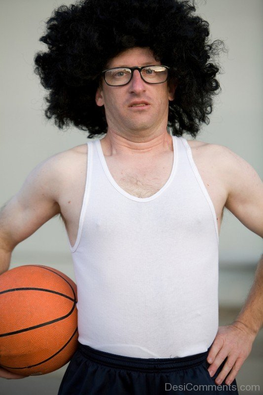 Basketball Player Funny Afro Hair-DC66