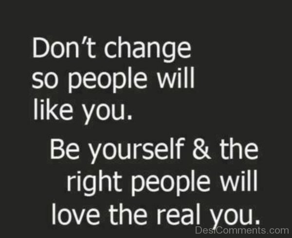 Be Yourself & The Right People