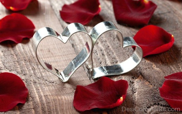 Beautiful Silver Love Hearts- DC 02047